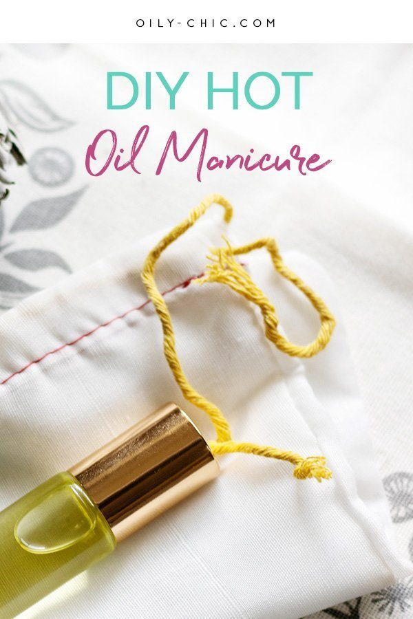 Want to know how to do a hot oil manicure at home? It's easy with these clear DIY manicure steps!