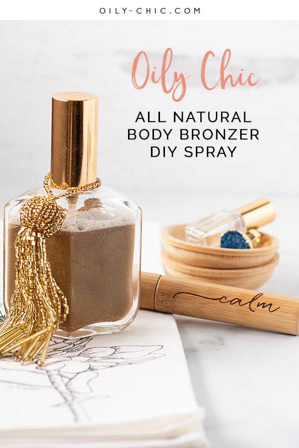 This DIY body shimmer recipe will give your skin a hint of color, softness, and a natural glow. It's easy and quick to apply with a fine mist spray bottle and there's no greasy mess!