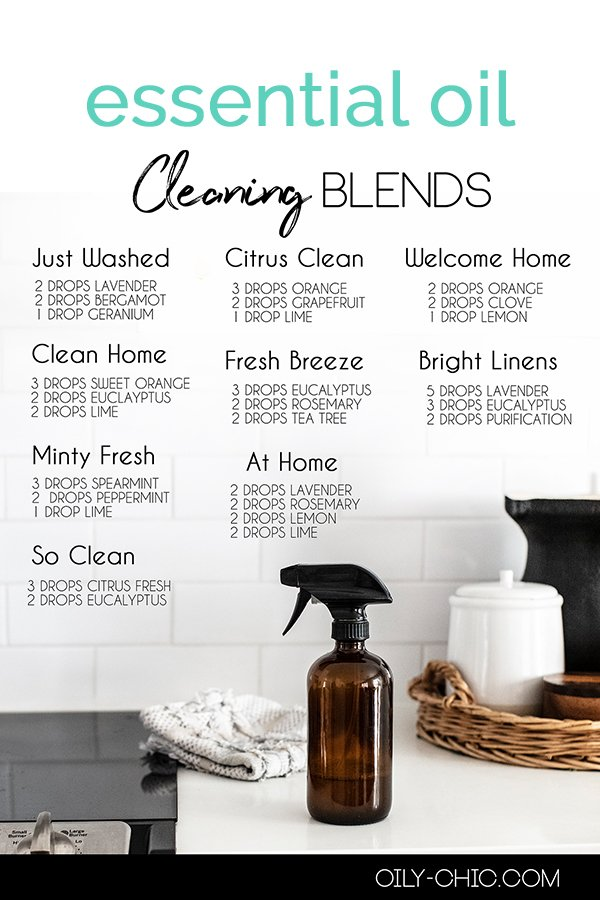 Everyone likes a clean, fresh smelling home. And the best essential oils for cleaning can do just that! Grab our free printable of cleaning essential oil blends.