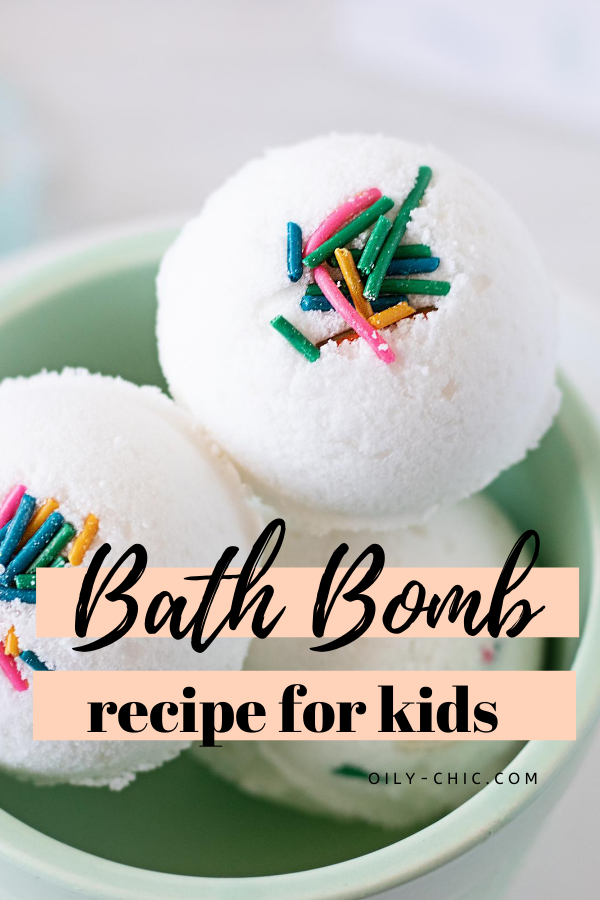 You'll find this essential oil bath bomb recipe is easy to make - kids included!