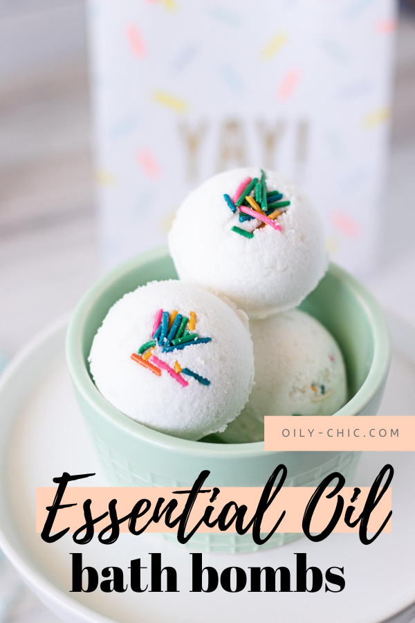 You can indulge in your bath bomb obsession any time of year with this easy essential oil bath bombs recipe!