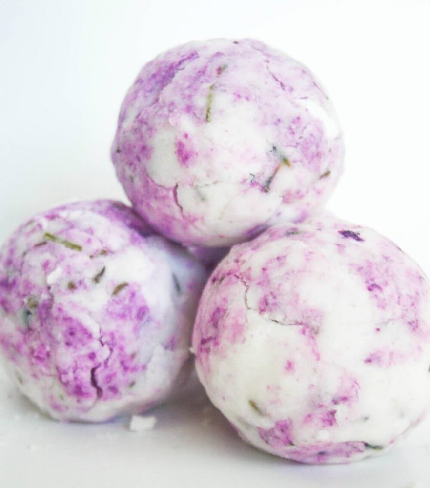 Lavender essential oil is loved by many and these bath bombs not only smell like a field lavender they look gorgeous too.