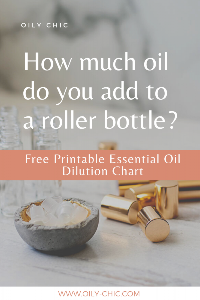 How many drops of essential oil in a 10 ml roller bottle should you use?