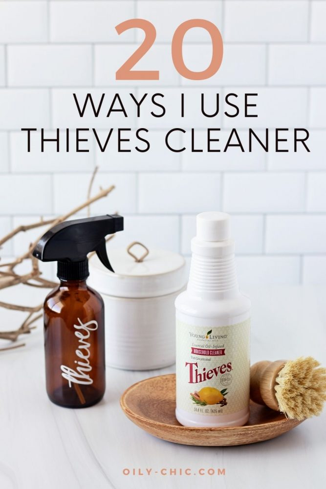If you're asking yourself what can I clean with Thieves cleaner the answer is literally just about everything. Here's 20 ways I use Thieves cleaner in our home!