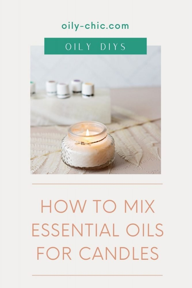 How to mix essential oil into candles