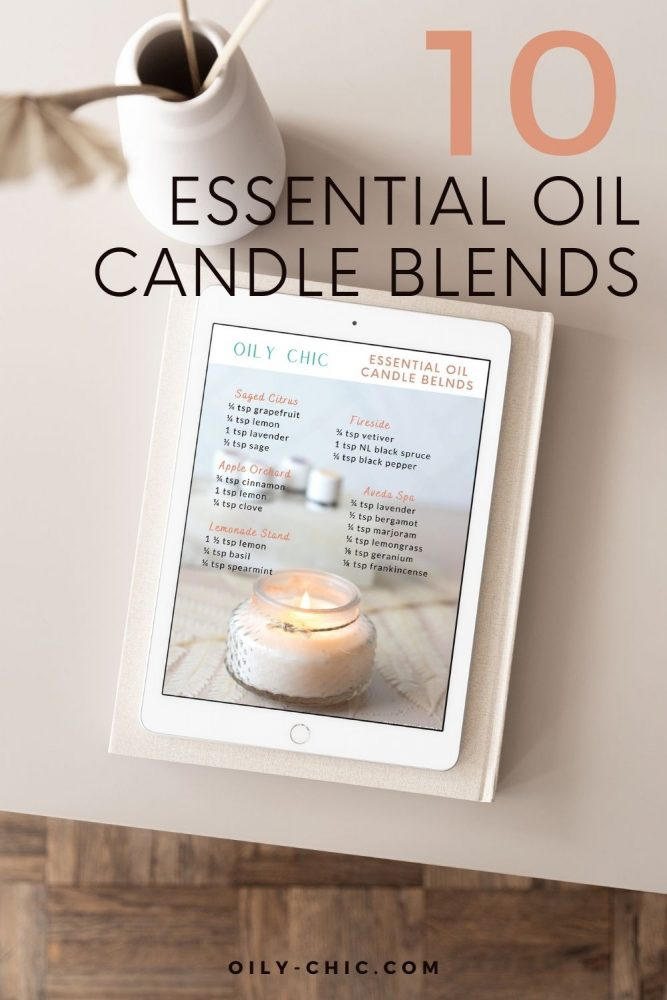 10 candle essential oil blends for candle making!