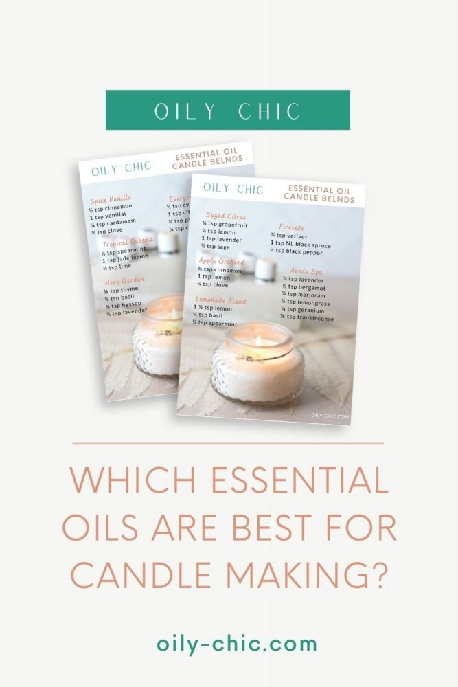 Which essential oils are best for candle making? Grab our candle essential oil blends chart!