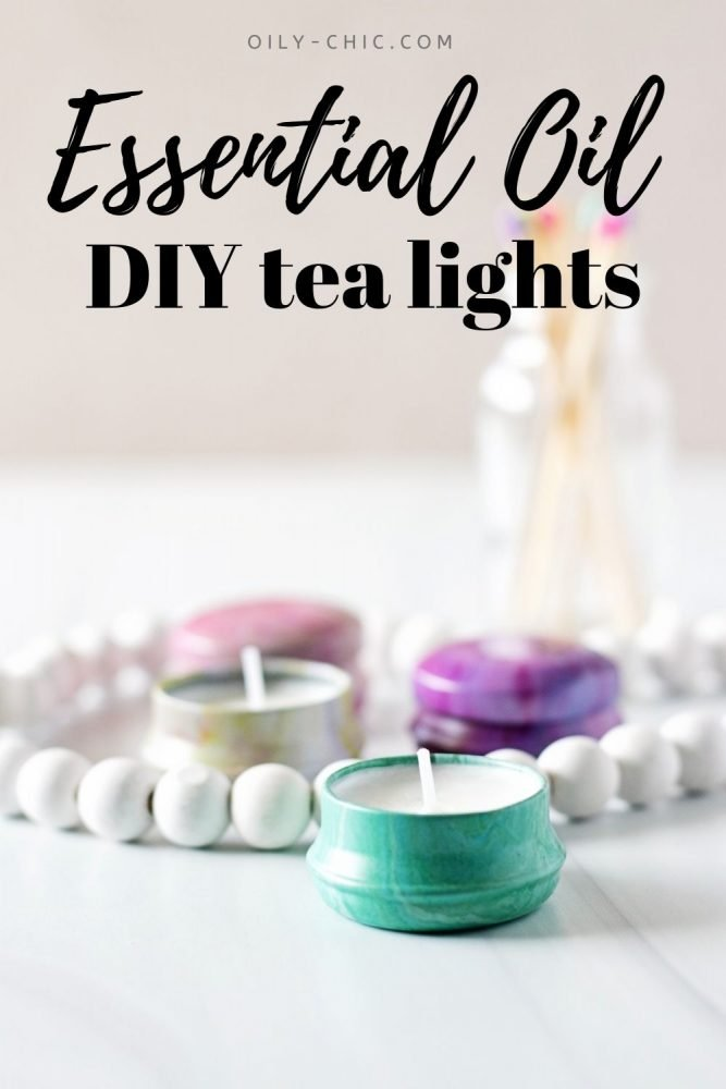 I can't tell you how much fun it is to make these essential oil tea lights!